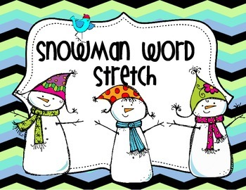 Snowman Word Stretch Freebie