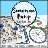 Snowman Vowel Word Work Game