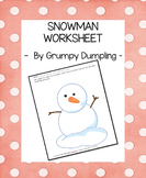Snowman Worksheet {FREEBIE}