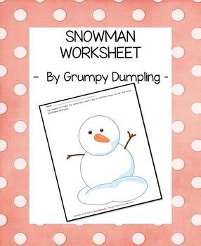 Snowman Worksheet {FREEBIE}