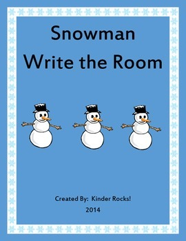 Snowman Write the Room