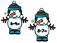 Snowman Write the Room Subtraction