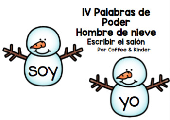 Snowman Write the Room en Espanol (aligned with ENIL level 1V)