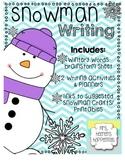 Snowman Writing Activites