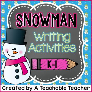 Snowman Writing Activities {K-1}