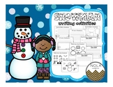 Snowman Writing Activities- NO PREP!