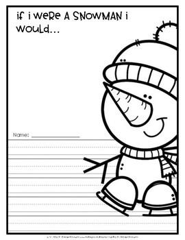 Snowman {Writing Activity}