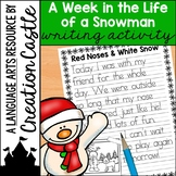 FREE Snowman Writing Activity + 12 Days of Christmas Announcement