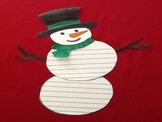 Winter Snowman Writing Activity