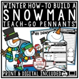 How To Build a Snowman Winter Writing Prompts • Teach- Go Pennants™