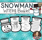 Snowman Writing Book