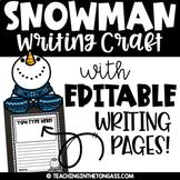 Snowman Writing Craft | Snowman Craft & Snowman Writing Activity