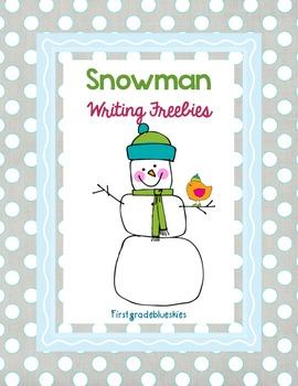 Snowman Writing Freebie Pack!