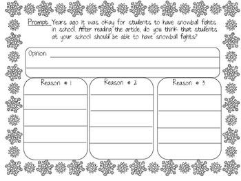 Snowman Writing & Math