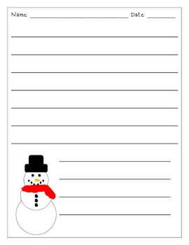 Snowman Writing Paper