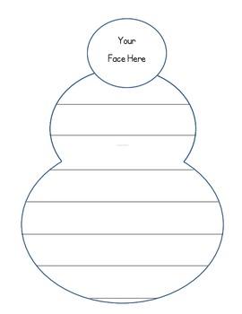 Snowman Writing Paper