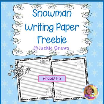 Snowman Writing Paper Freebie