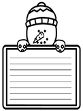 Snowman Writing Paper Primary