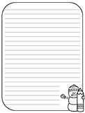Snowman Writing Paper Primary - Full Page