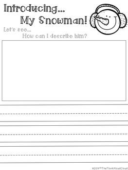 Snowman Writing Paper  ~ Unplugged!  {K-1} Version - Descriptive Writing