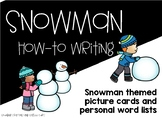 Snowman Writing Picture Cards