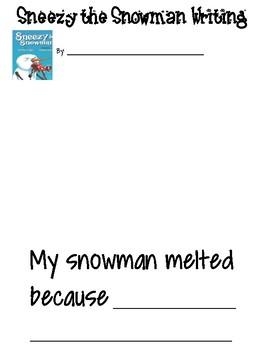 Snowman Writing-Sneezy the Snowman