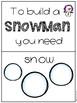 Snowman Writing Station