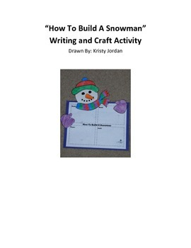 Snowman Writing and Craft Activity