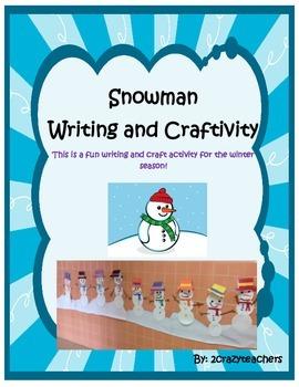 Snowman Writing and Craftivity