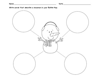 Snowman Writing with Bubble Map and Tree Map