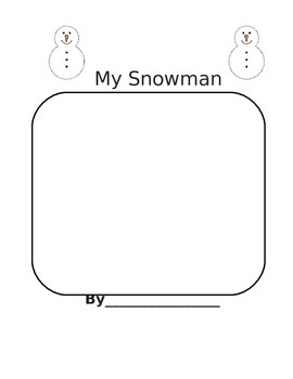Snowman Writing/Label