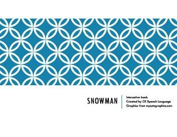 Snowman: a winter interactive language book