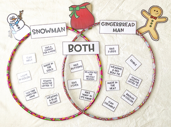 Snowman and Gingerbread Man Compare/Contrast Activity