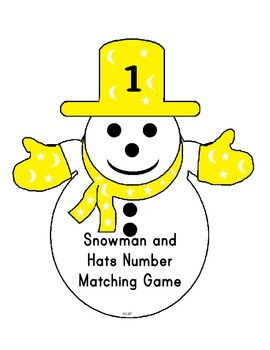 Snowman and Hat Number Matching Game