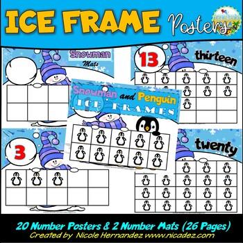 Winter Math Ice Frames - Ten Frames