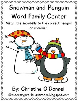 Snowman and Penguin Word Family Center!