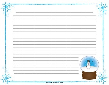 Snowman and Snow Globe Writing Paper
