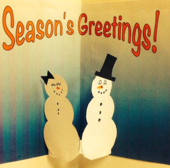 Snowman and Snow-woman Pop-up Cards