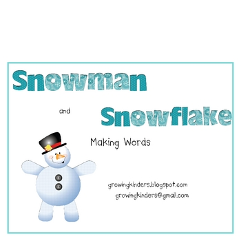 Snowman and Snowflake Making Words
