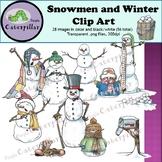 Snowman and Winter Clip Art