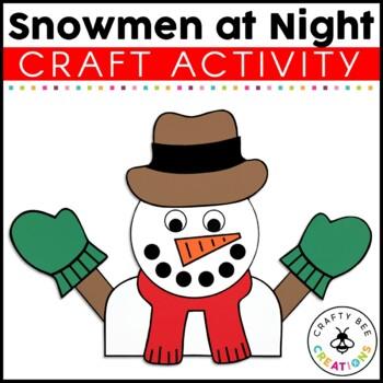 Snowman at Night Craft