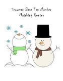 Snowman base ten number matching center