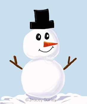 Snowman clip art - Winter Clip Art, Printable Tracey Gurley Designs