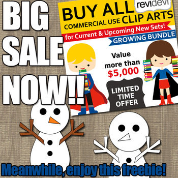 Snowman clipart free - Winter clip art freebie