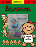 Snowman color-by-number