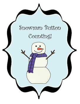 Snowman counting Activity/ File Folder Game