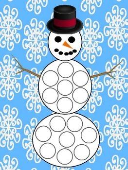 Snowman dot reinforcers