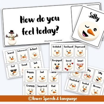 Snowman feelings and emotions | Identifying feelings and emotions | LOW PREP