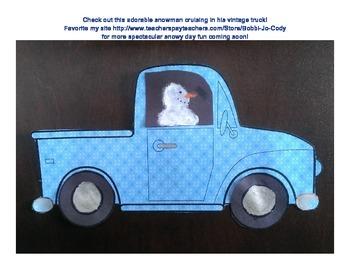 Snowman in Vintage Truck Activity