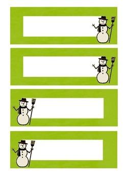 Snowman labels